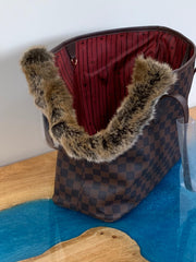 Handmade Louis Vuitton Inspired Dog Carrier