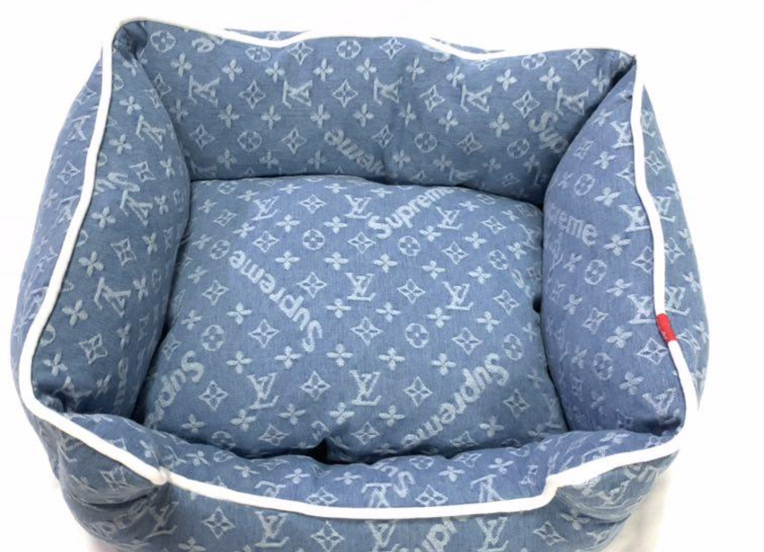 Louis Vuitton blue ultra soft bed