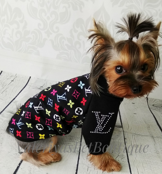 Louis Vuitton Multi-color Inspired Jersey dog sweater