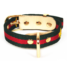 Gucci Inspired Red and Green Stripe Collar