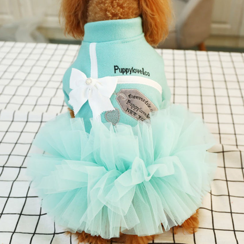 Tiffany Inspired Ruffle Dress