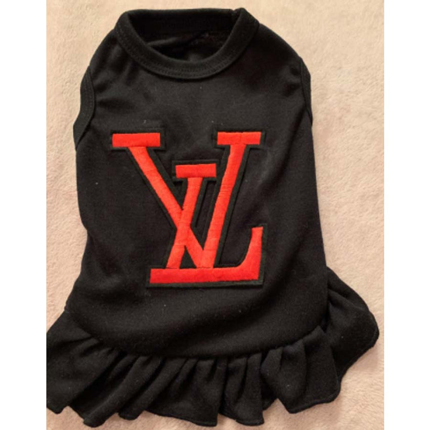 Louis Vuitton inspired dog dress