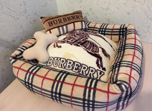 Handmade Burberry inspired bed