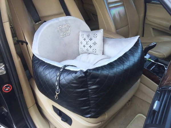 LV inspired Car seat for dogs