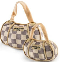 Checker Chewy Vuiton Purse Toy