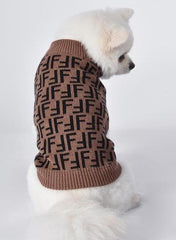 Fendi Inspired Wool Dog Sweater