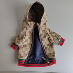 Gucci Inspired Dog Jacket with Hood