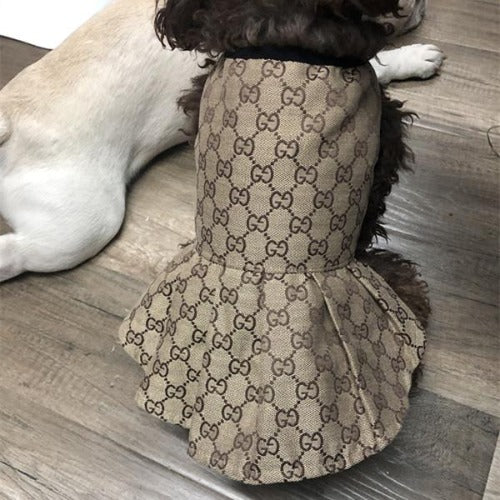 Gucci Inspired Skirt Dog Dress