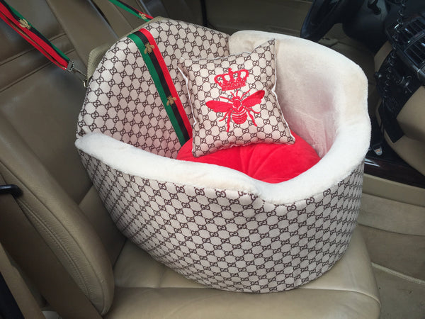 Gucci Inspired Car Seat for dogs