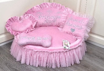 Baby Pink Princess Desiner Dog Bed