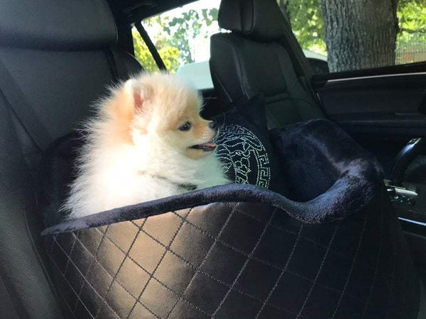 PU Leather Black Car Seat for Dogs