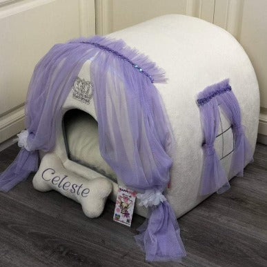 Cream and Lavender Luxury Dog House