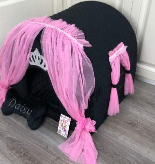 Black and Pink Luxury Dog House