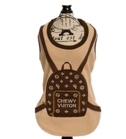 Chewy Vuitton Backpack T-Shirt - Brown