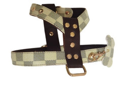 Louis Vuitton Inspired Checkered Harness