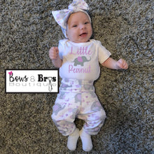 Load image into Gallery viewer, Little Peanut Elephant Baby Girl Coming Home Outfit- 1,2,3 or 4 Piece Set - Bows and Bros Boutique LLC
