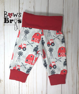 Life is Better On The Farm Red Farm Gender Neutral Coming Home Outfit- 1,2,3,4 or 5 Piece Set - Bows and Bros Boutique LLC