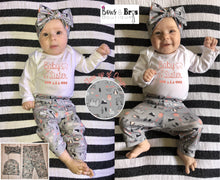 Load image into Gallery viewer, Baby Sister Woodland Bear Deer Baby Girl Coming Home Outfit- 1,2,3 or 4 Piece Set