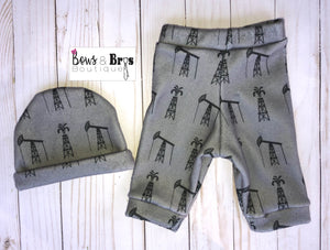 Daddy Is My Hero Boys Oil Rig Coming Home Outfit- 1,2 or 3 Piece Set - Bows and Bros Boutique LLC
