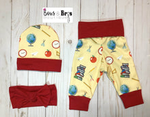Load image into Gallery viewer, Teacher's Pet Unisex Teacher Baby Outfit Set - Bows and Bros Boutique LLC