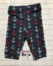 Load image into Gallery viewer, Captain Custom Name Anchor Baby Boy Coming Home Outfit - 1,2,3 or 4 Piece Set - Bows and Bros Boutique LLC