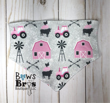 Load image into Gallery viewer, Home Grown Tractor Baby Girl Pink Farm Coming Home Outfit- 1,2,3 or 4 Piece Set - Bows and Bros Boutique LLC