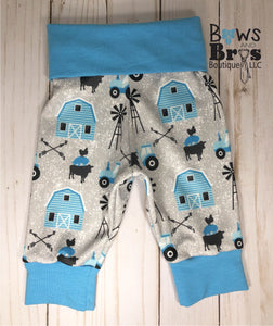 New to the Herd Baby Boy Blue Farm Coming Home Outfit- 1,2,3 or 4 Piece Set - Bows and Bros Boutique LLC
