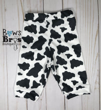 Load image into Gallery viewer, New To The Herd Cow Print Gender Neutral Coming Home Outfit- 1,2,3,4 or 5 Piece Set - Bows and Bros Boutique LLC