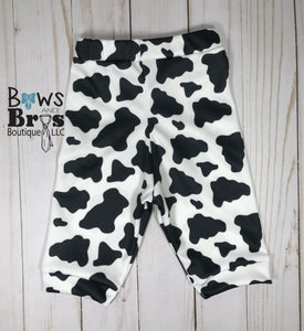 New To The Herd Cow Print Gender Neutral Coming Home Outfit- 1,2,3,4 or 5 Piece Set - Bows and Bros Boutique LLC
