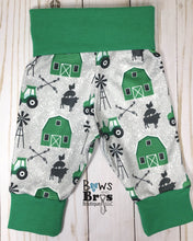 Load image into Gallery viewer, Life Is Better On The Farm Baby Boy Green Farm Outfit Set