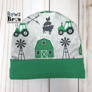 Future Farmer Tractor Baby Boy Green Farm Coming Home Outfit- 1,2,3 or 4 Piece Set - Bows and Bros Boutique LLC