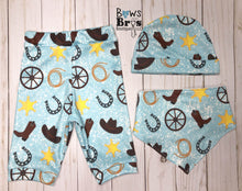 Load image into Gallery viewer, Daddy's Shotgun Rider Blue Boys Cowboy Coming Home Outfit - 1,2,3 or 4 Piece Set - Bows and Bros Boutique LLC