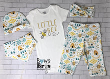 Load image into Gallery viewer, Little Bee Bumble Bee 5 Piece Outfit Set