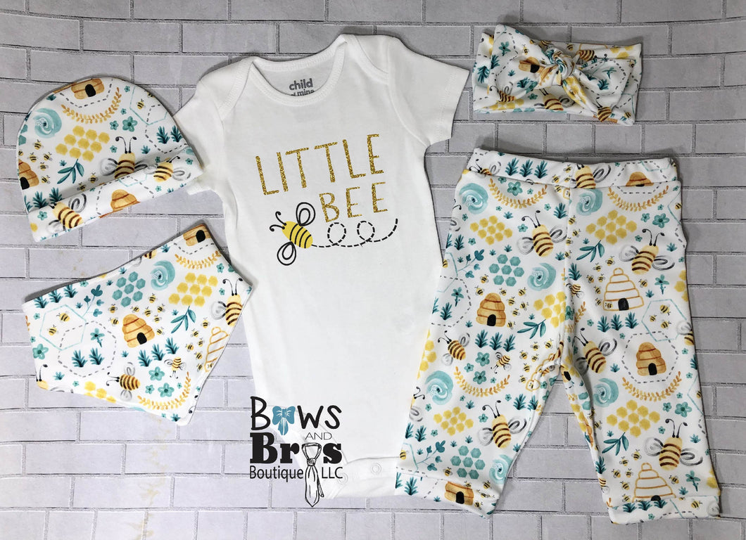 Little Bee Bumble Bee 5 Piece Outfit Set