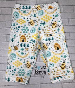 Hello I'm New Here Gold Glitter Bumble Bee 5 Piece Outfit Set