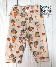 Load image into Gallery viewer, Thankful A Latte Baby Girl Fall Thanksgiving Outfit - Bows and Bros Boutique LLC