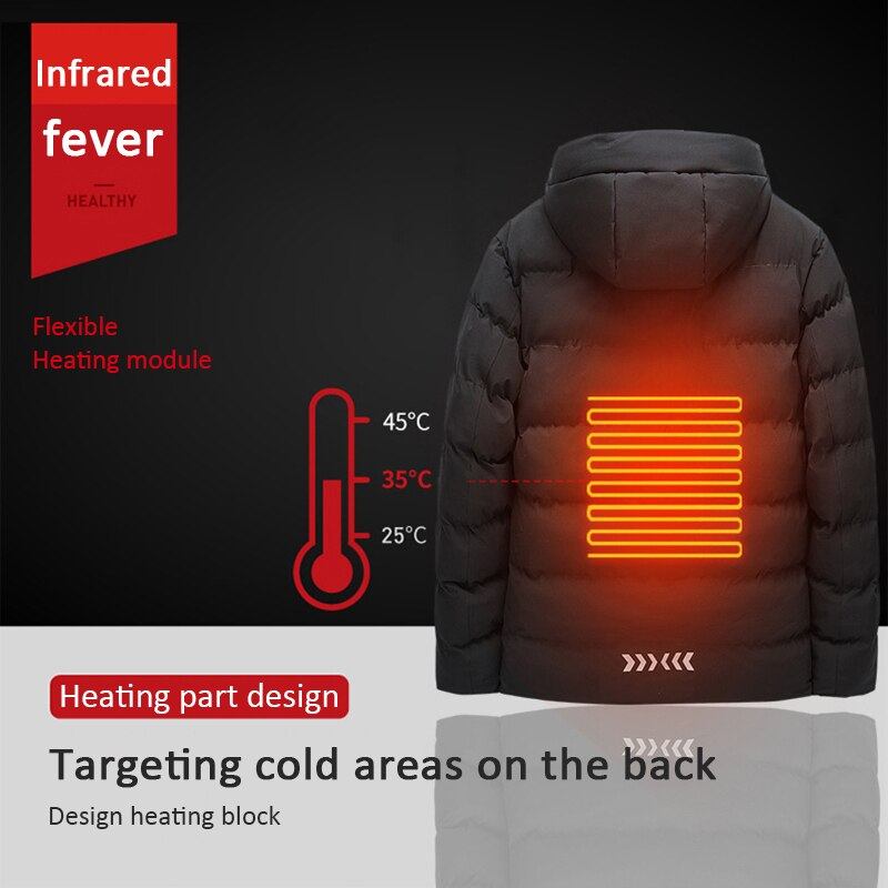 Heated Jacket Vest USB Charging Heating Vest Constant Temperature Warm Cotton Vest Heating Clothes Warm Vest