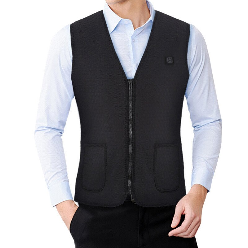 Heated Vest Jacket USB Men Women Winter Electrical Heated Sleevless Jacket Outdoor Fishing Hunting Waistcoat Hiking Vest