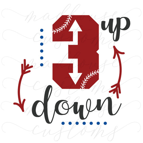 3 Up 3 Down-Baseball-Digital Download