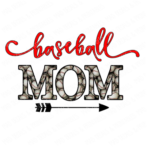 Baseball Mom-Tumbler Decal