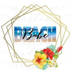 Beach Babe-Tumbler Decal