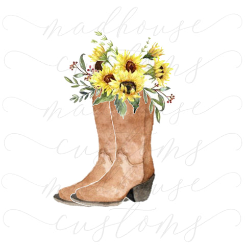 Boots & Sunflowers #1-Digital Download