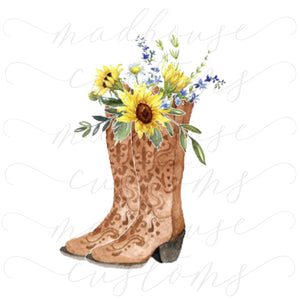 Boots & Sunflowers #2-Digital Download