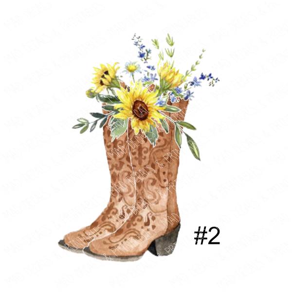 Boots & Sunflowers #2