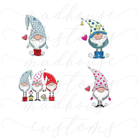 Colorful Gnomes-Ornament Decals-Digital Download