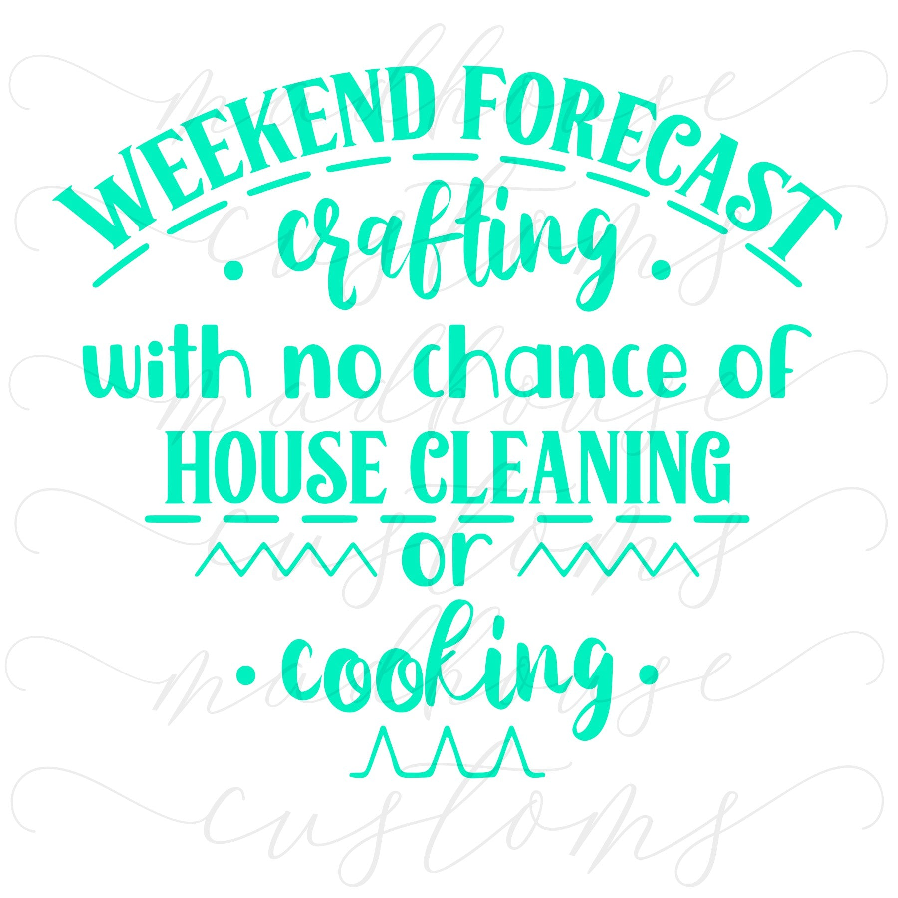 Crafting Weekend Forecast
