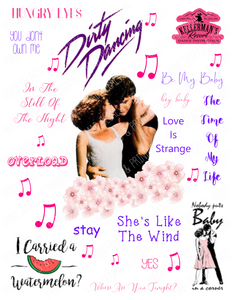 Dirty Dancing #2-Tumbler Fan Sheet-Digital Download