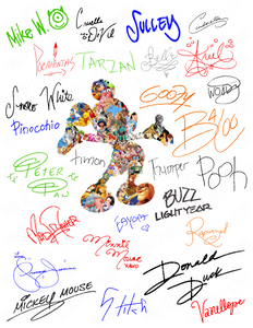 Disney Autograph-Color-Digital Download