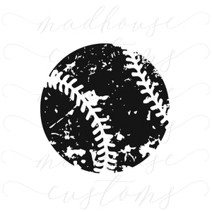 Distressed Baseball-Digital Download