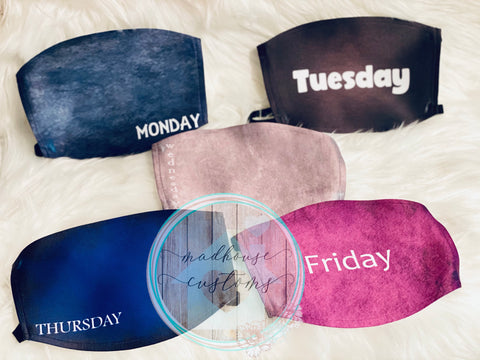 """Days Of The Week"" Masks"